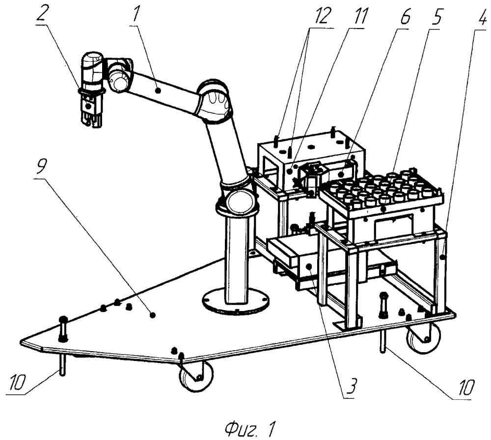 Устройство для перегрузки деталей с накоплением их в кассетах
