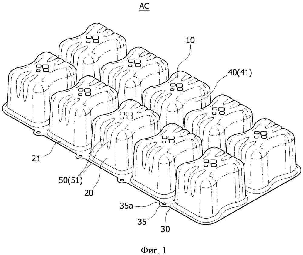 Модуль с воздушными ячейками для надувного матраса