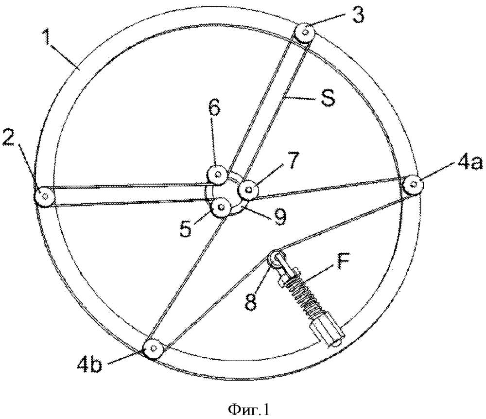 Способ натяжения ремня, цепи или троса в универсальной самоцентрирующейся системе