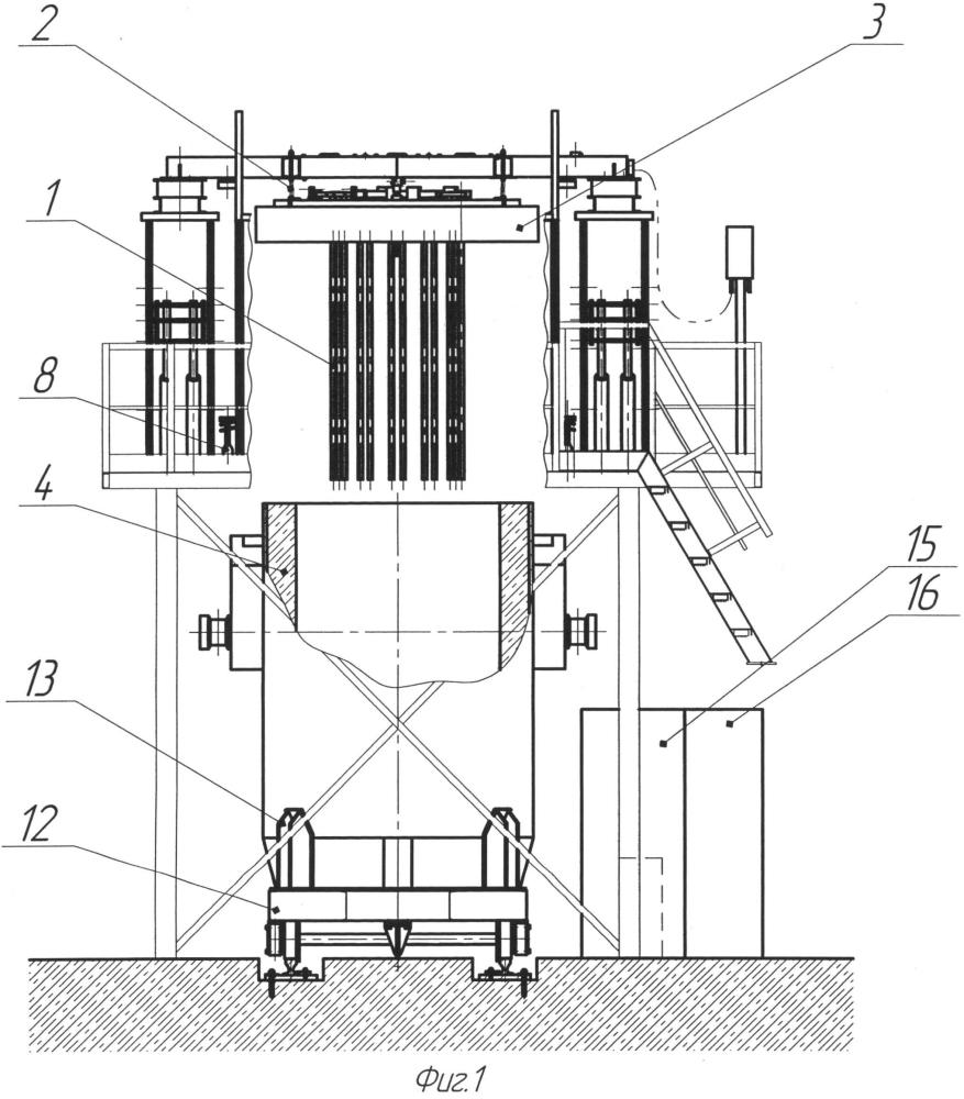 Установка для электрического нагрева футеровки ковшей