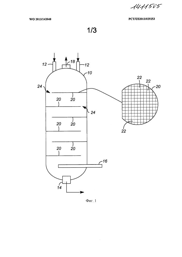 Многопроходные решетки регенератора системы реактора для превращения метанола в олефины