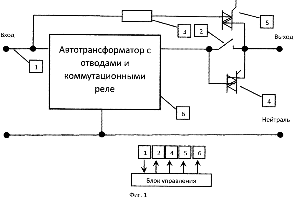 Стабилизатор напряжения сети переменного тока