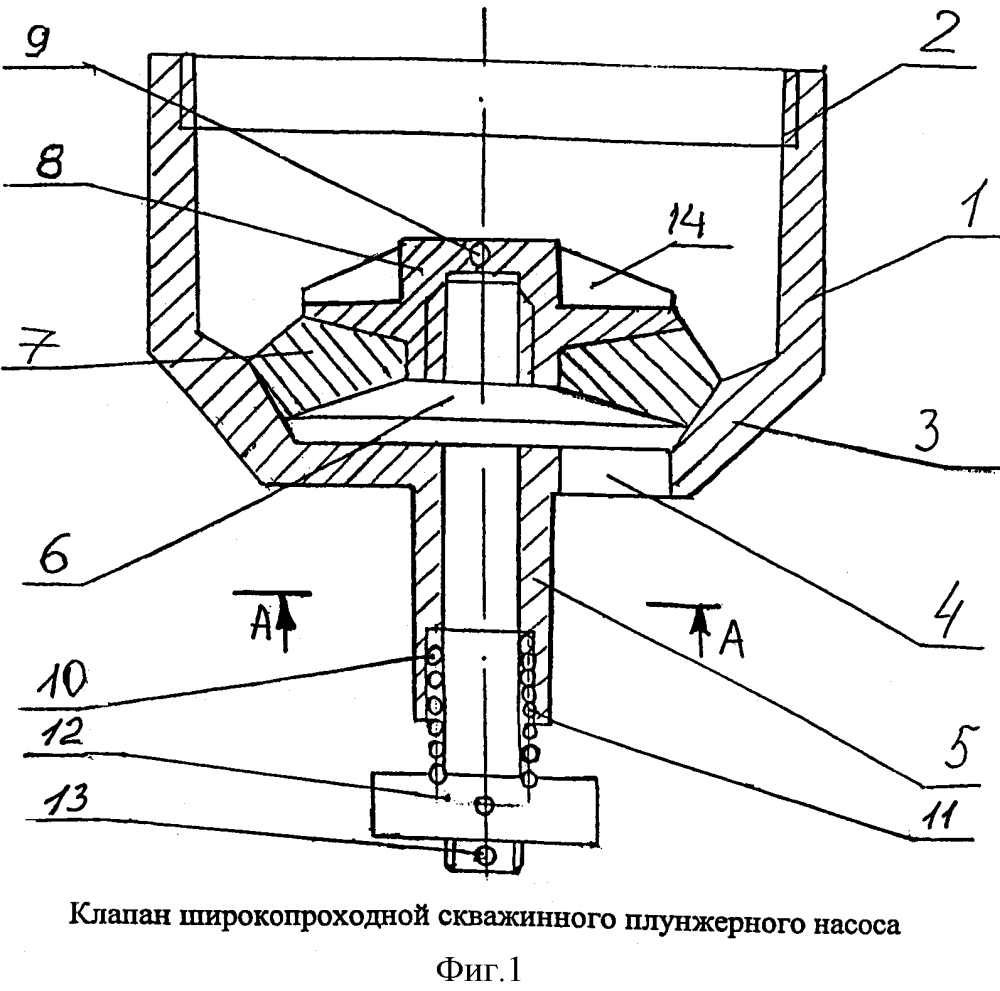 Клапан широкопроходной скважинного плунжерного насоса