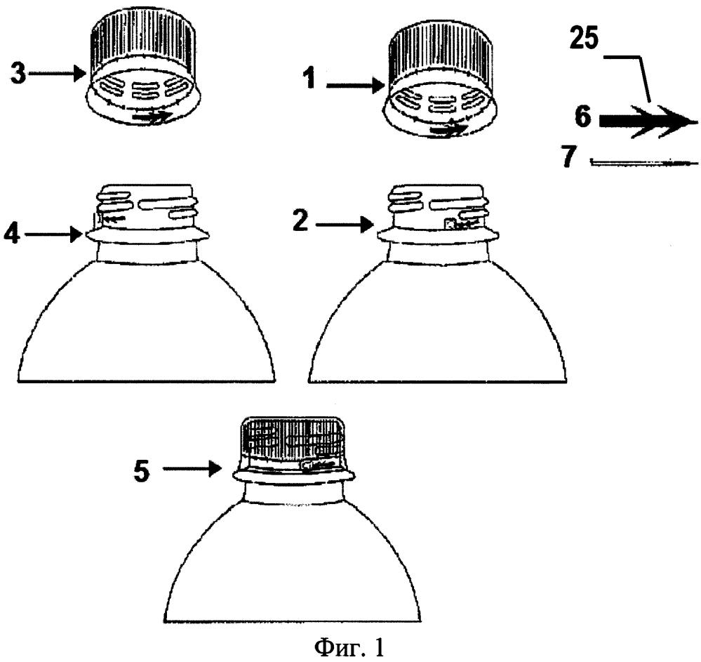 Способ безопасной и плотной укупорки с применением защитной ленты и замка для закрывания горловины бутылки