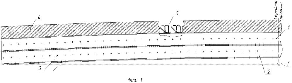 Гибридное пролетное строение с предварительно напряженными балками из полимерного композиционного материала и железобетонной плитой поверху