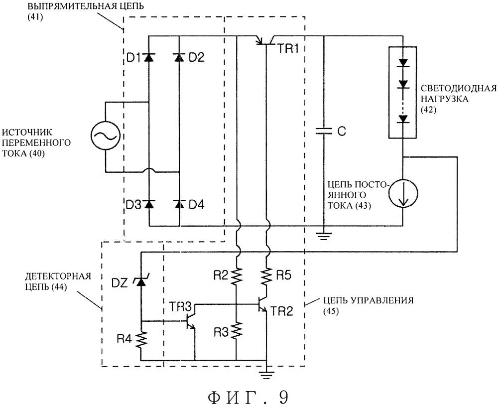Схема включения светодиода, имеющая повышенную эффективность
