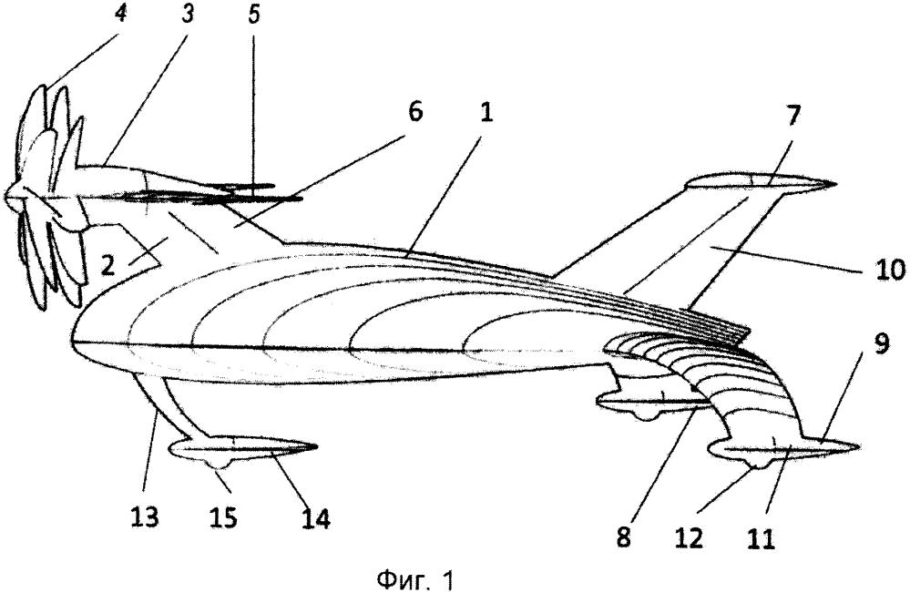 Беспилотный универсальный самолет вертикального или короткого взлета и посадки