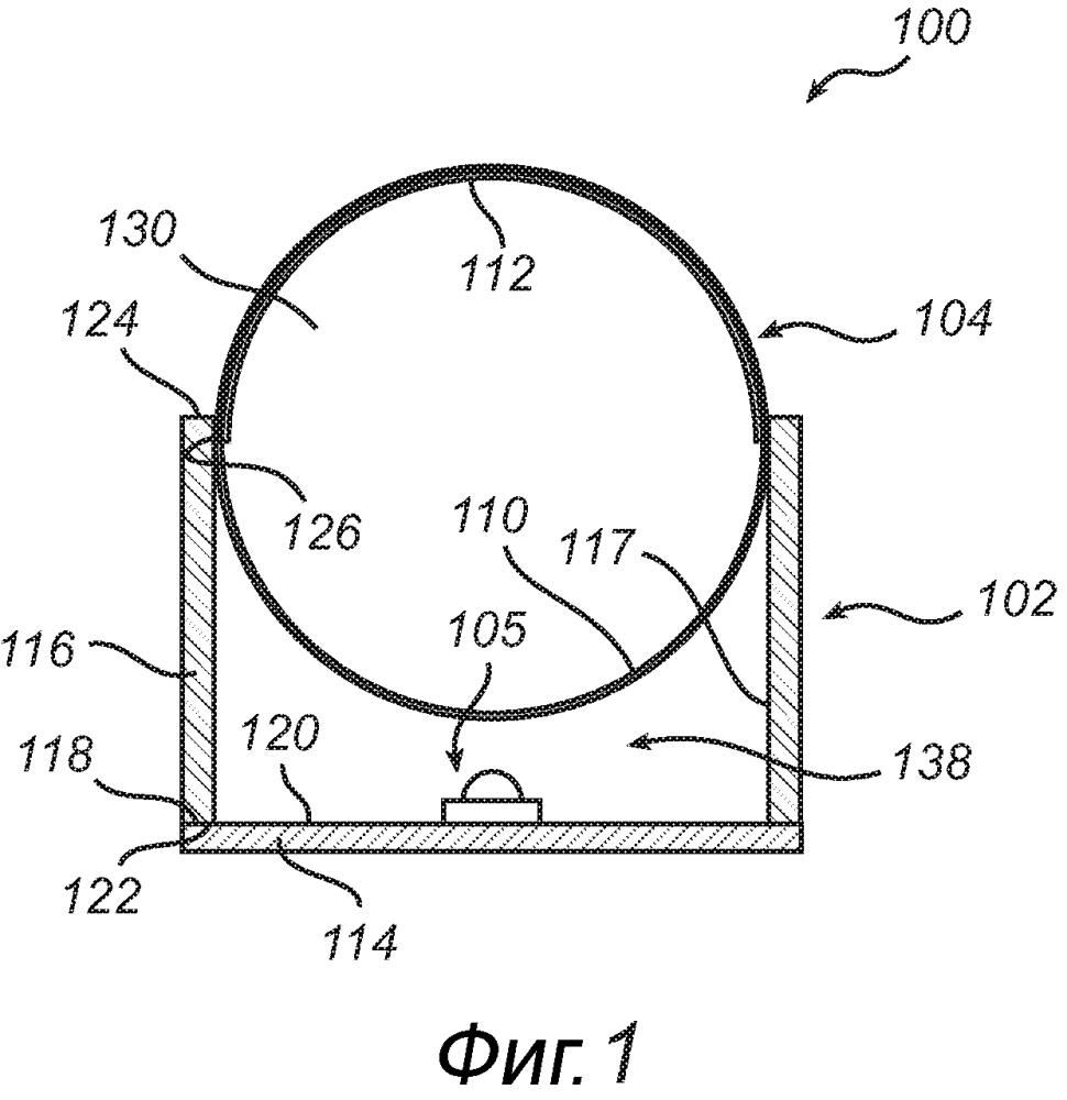 Модифицированный светодиодный модуль снаружи герметизированной стеклянной трубки