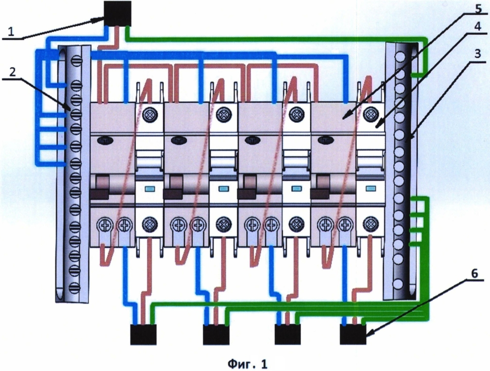 Универсальный электронный модуль распределения и защиты электрической сети от токов перегрузки, утечки и короткого замыкания