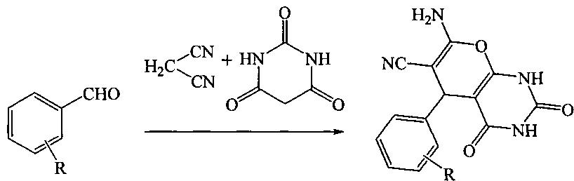 7-амино-2,2,4-триоксо-5-фенил-1,1,2,2,3,4-гексагидроспиро{пирано[2,3-d]пиримидин-5,3-пиррол}-6-карбонитрилы и способ их получения