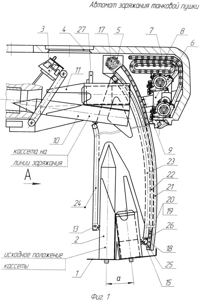 Автомат заряжания танковой пушки
