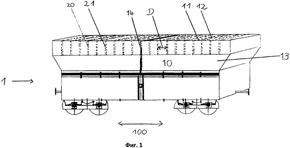 Транспортный контейнер, транспортное средство, тяговая группа, способ погрузки в транспортный контейнер и способ транспортировки сыпучего материала