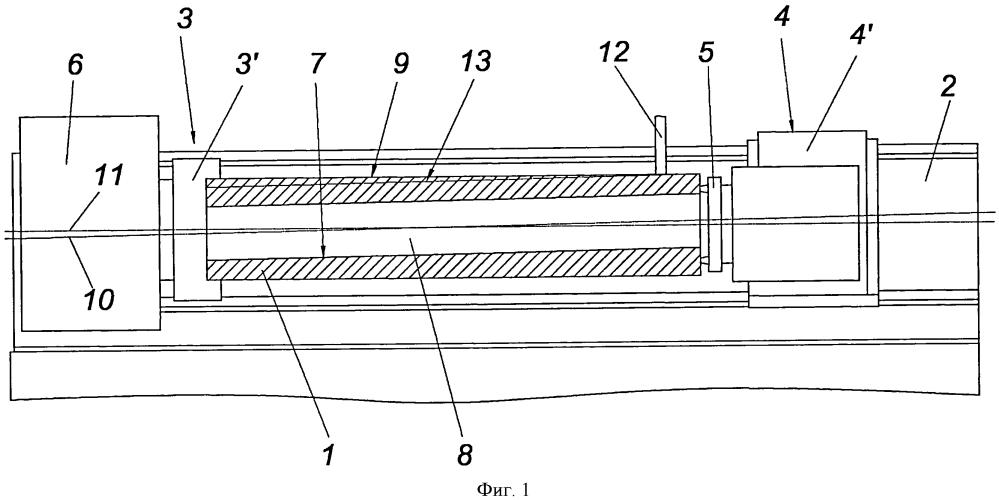 Способ уменьшения эксцентричности между внутренней поверхностью и наружной поверхностью полой детали, зажатой с возможностью вращения в станке