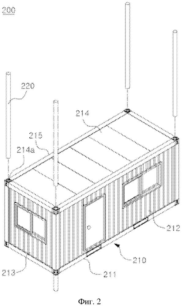 Дом-контейнер с устойчивой конструкцией