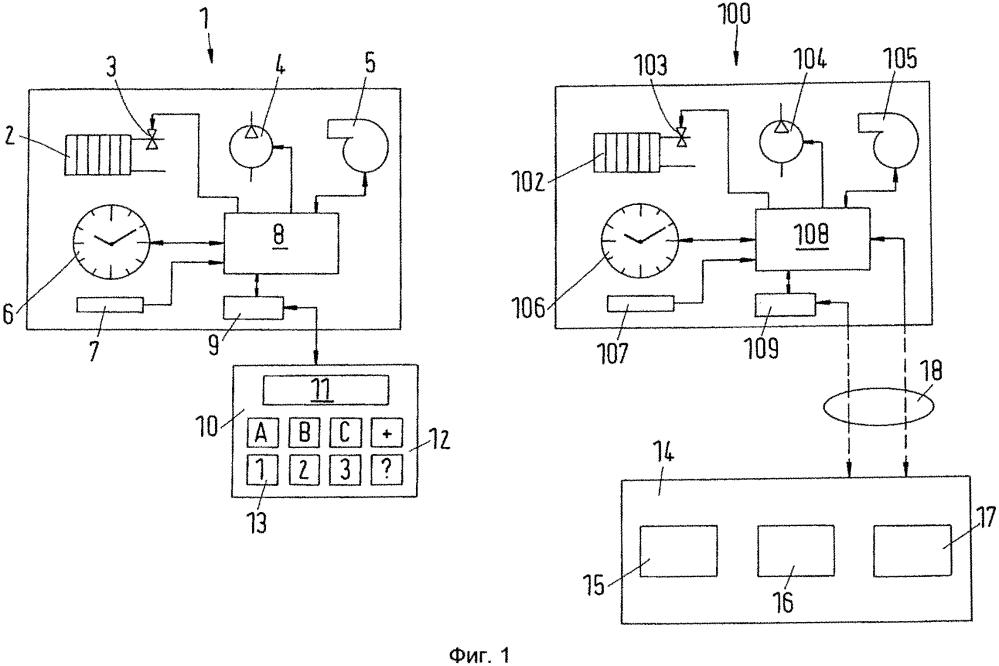 Способ установки параметров в системе, в частности в отопительной или охлаждающей системе, устройство для изменения параметров и отопительная или охлаждающая система