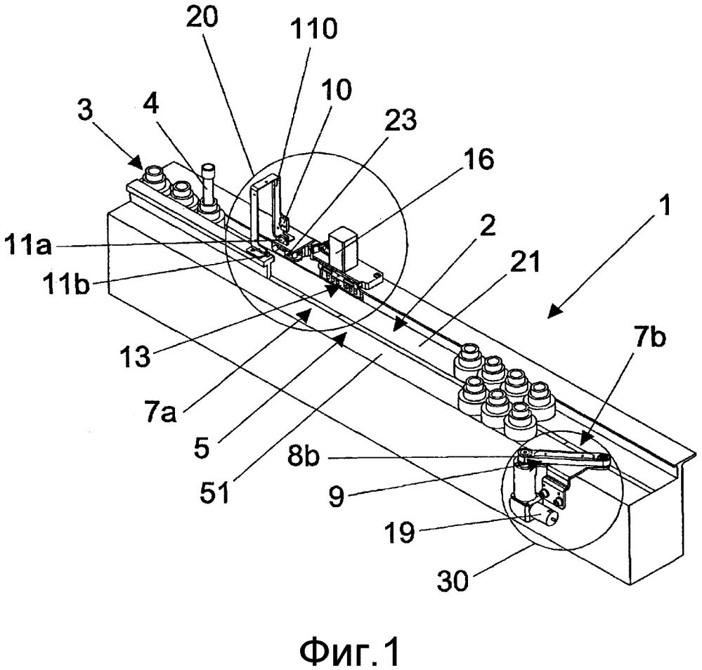 Технологическая установка устройств для транспортировки контейнеров для биологического препарата