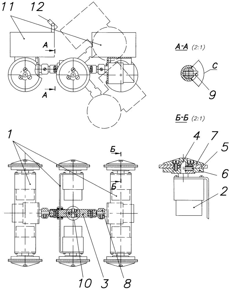 Платформа для внутритрубного дефектоскопа на магнитных колёсах