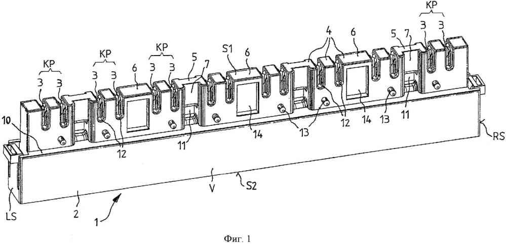 Распределительный модуль и способ подключения жил кабеля