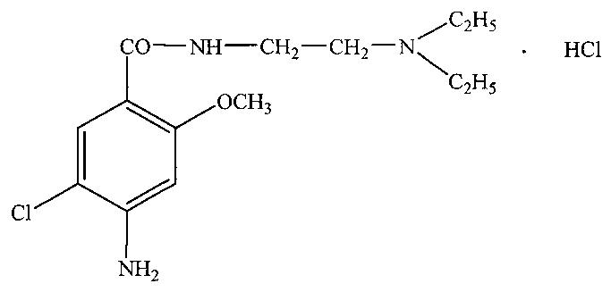 Способ количественного определения метоклопрамида