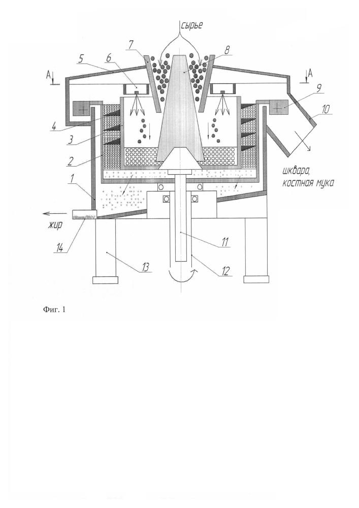 Сверхвысокочастотная установка для выделения расплавленного жира из жиросодержащего сырья