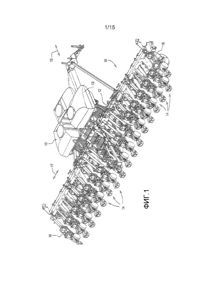 Высевающая секция для посевной машины, имеющая дозатор семян и систему доставки семян