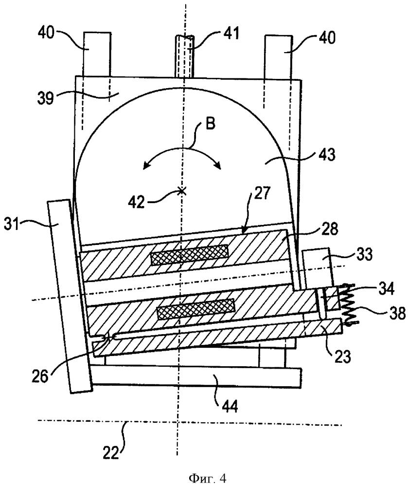 Шлифовальный станок с поворотной опорой узла шлифовального шпинделя и способ поворота шлифовального шпинделя в шлифовальном станке