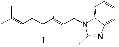 Способ получения 1-геранил-2-метилбензимидазола