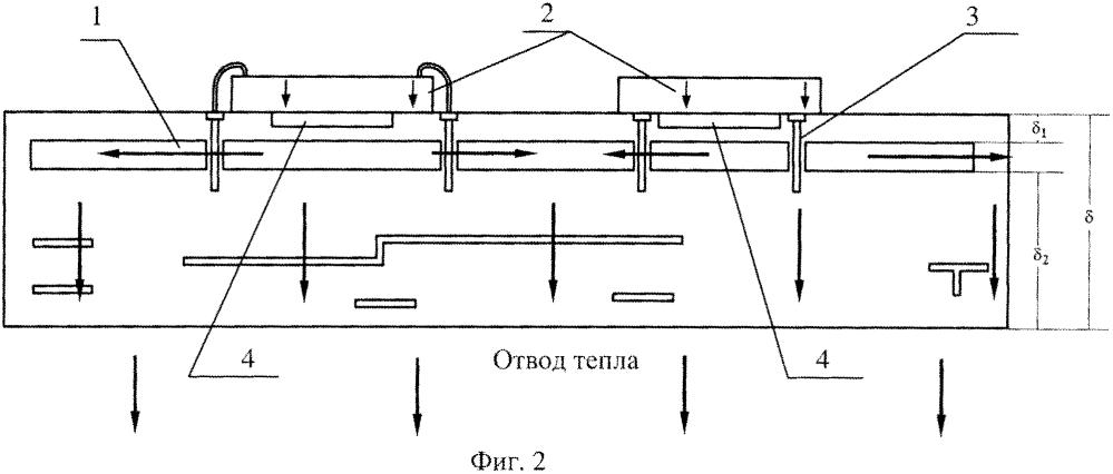 Устройство охлаждения многослойной керамической платы