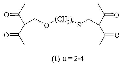 Способ получения α-[(пентан-2,4-дион-3-ил)метокси]-ω-[(пентан-2,4-дион-3-ил)метилсульфанил]алканов