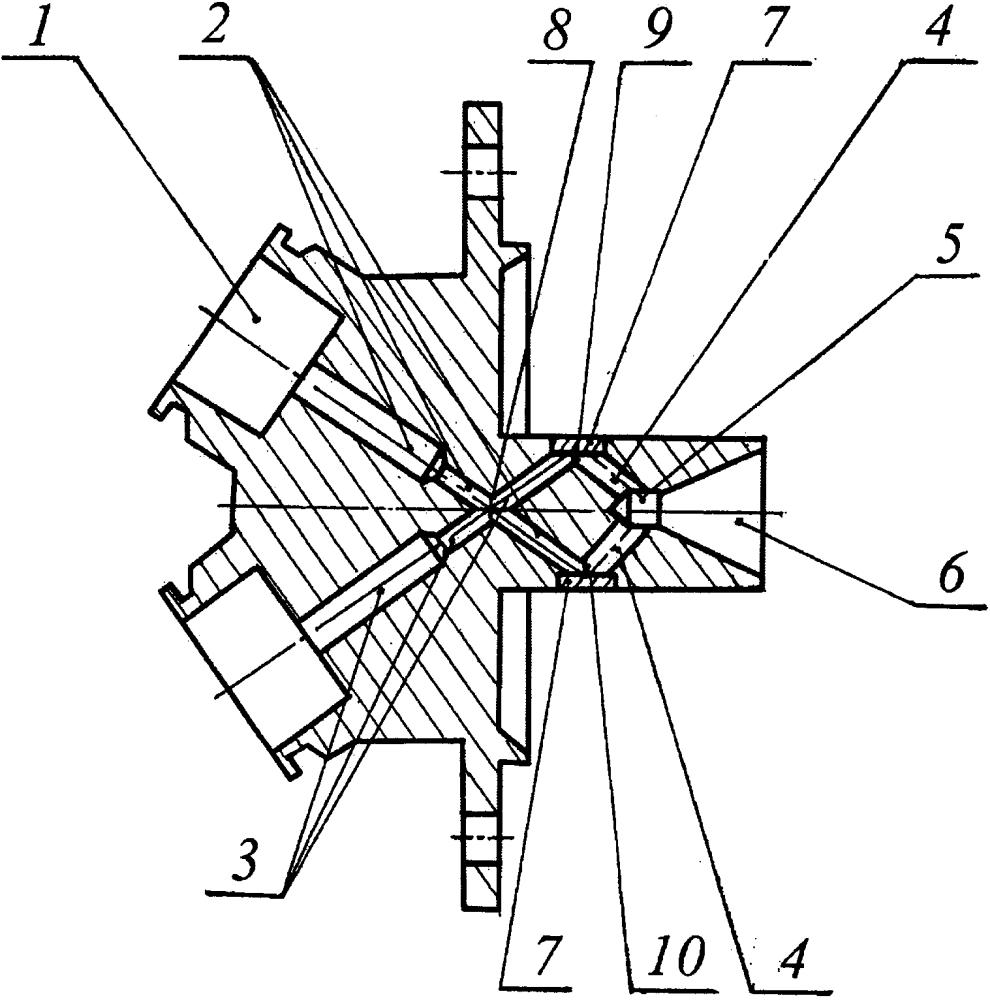 Смесительная головка жидкостного ракетного двигателя особо малой тяги