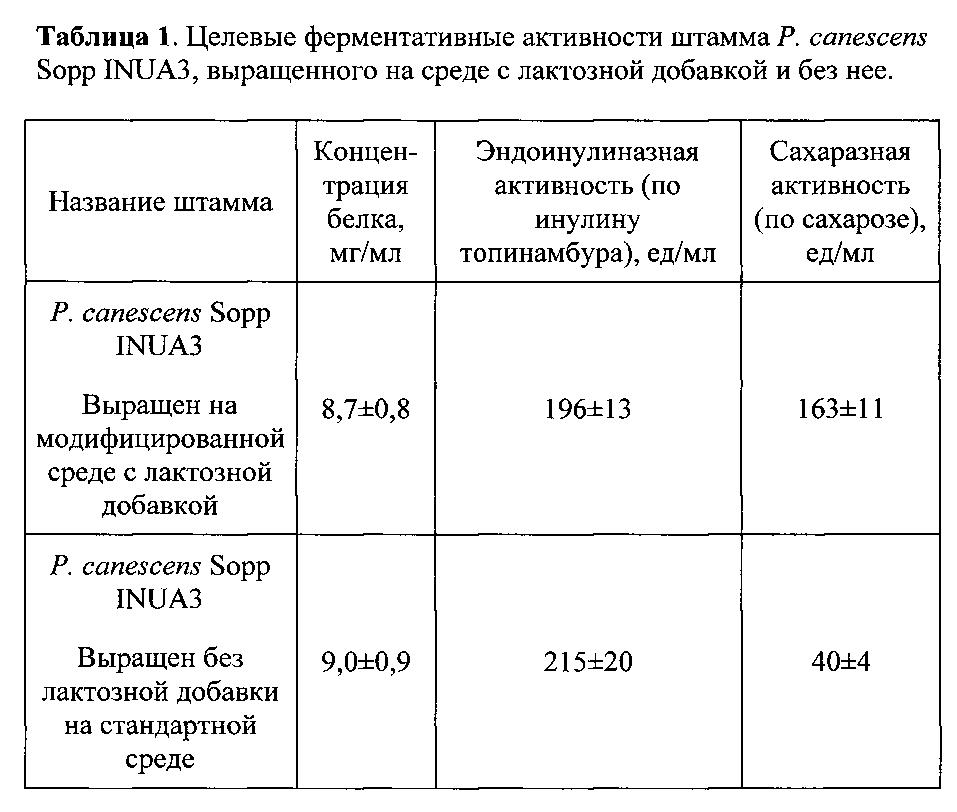 Способ получения ферментного препарата с эндоинулиназной и сахаразной активностью путем культивирования рекомбинантного штамма мицелиального гриба penicillium canescens sopp inua3