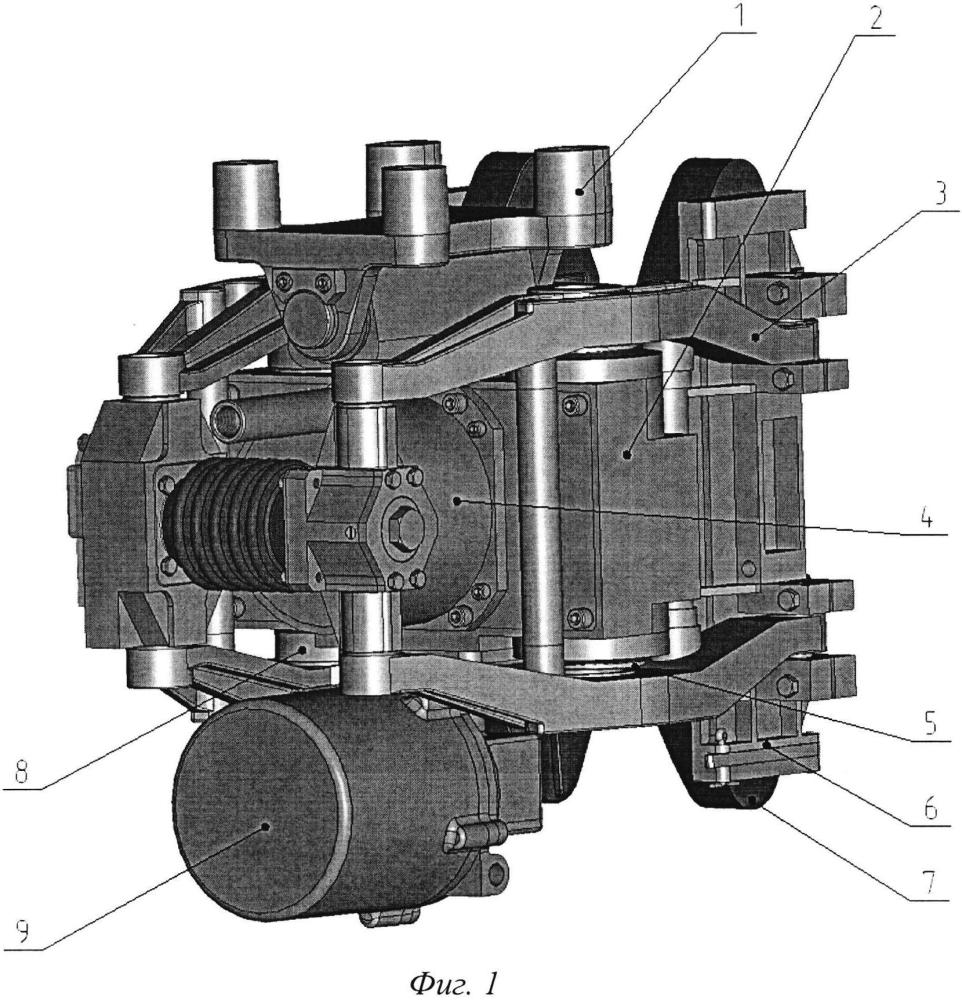 Тормозной блок дискового тормоза железнодорожного транспортного средства