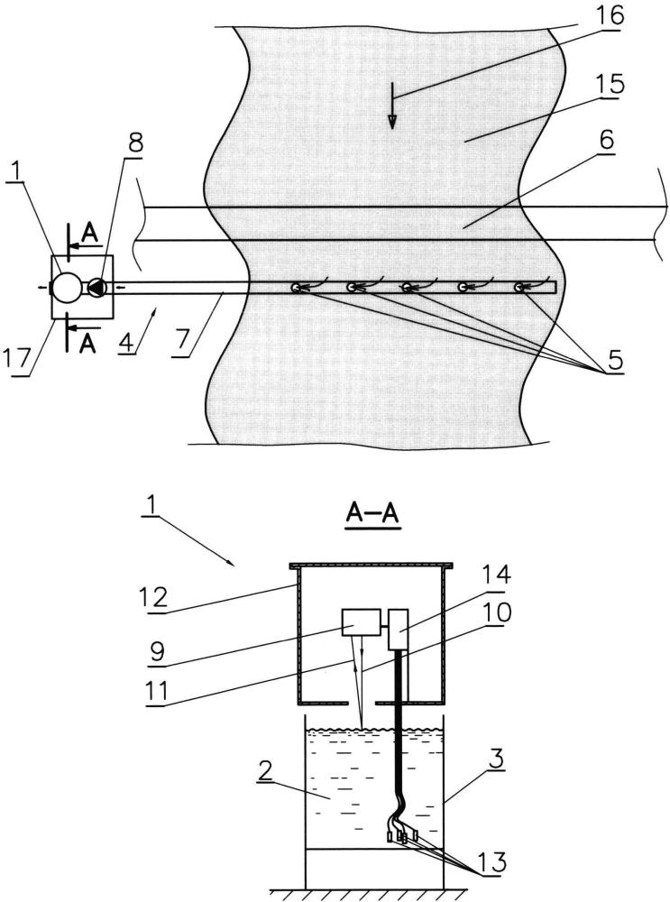 Система раннего обнаружения течи подводного нефтепровода