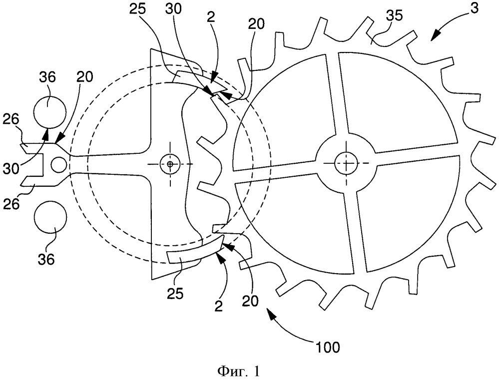 Механизм часов, имеющий контактную пару без смазки