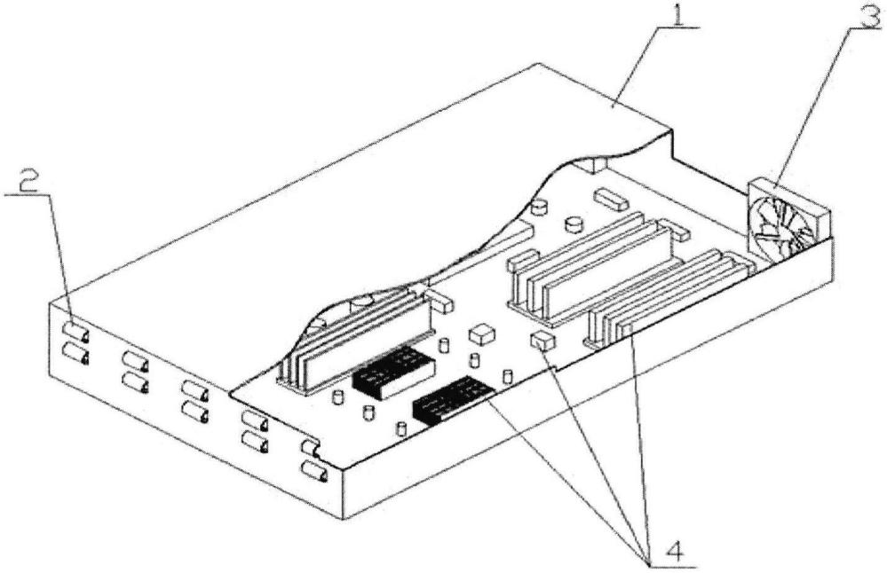 Устройство для воздушного охлаждения радиоэлектронных устройств