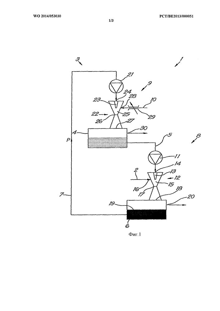 Способ и устройство для извлечения газа из газовой смеси с использованием эжектора вентури