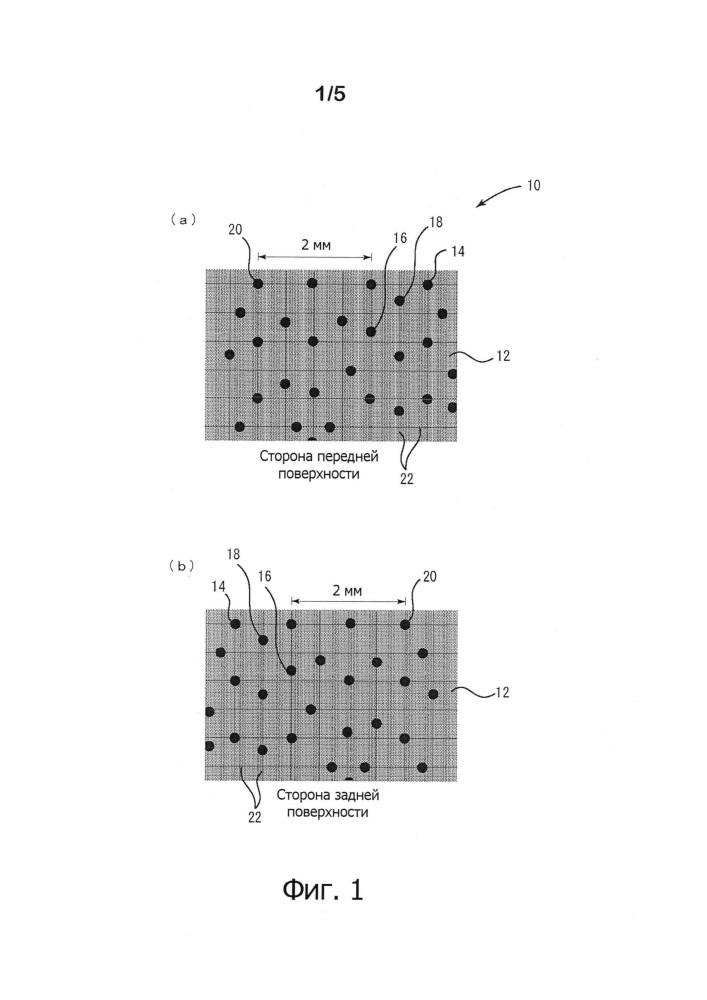 Система отображения информации и печатный материал с точечной структурой