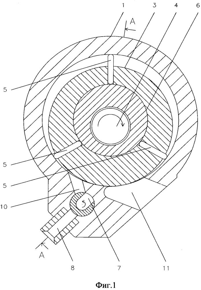 Роторно - лопастной двигатель с отдельной вращающейся камерой сгорания