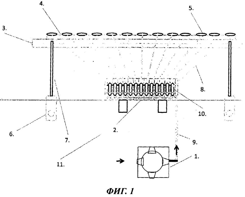 Линейный распределитель, в частности, для противошумового устройства для рельсовых тормозов