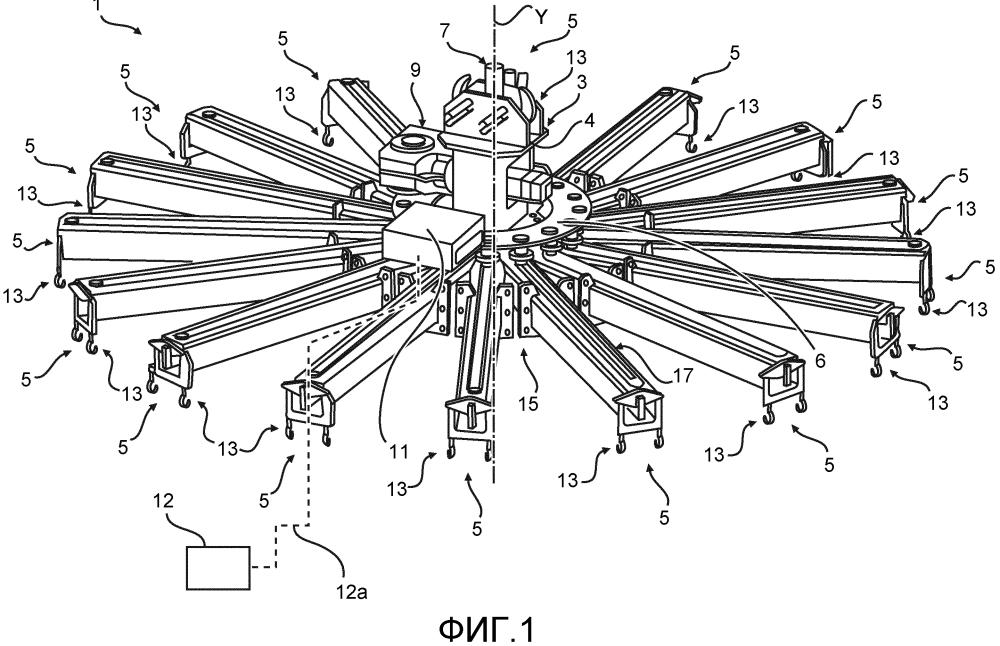 Захватное устройство для манипуляции арматурными каркасами для сегментов башни ветровой энергетической установки