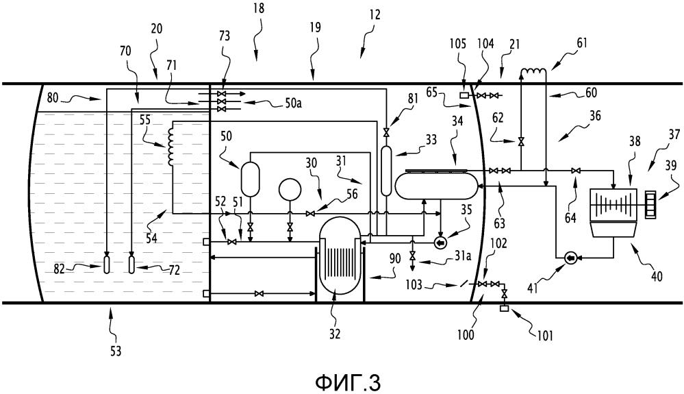 Погружной модуль для производства электрической энергии