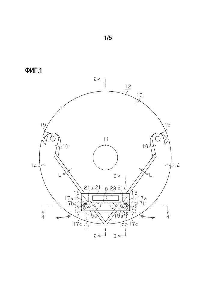 Устройство для намотки бортового кольца и установочный элемент