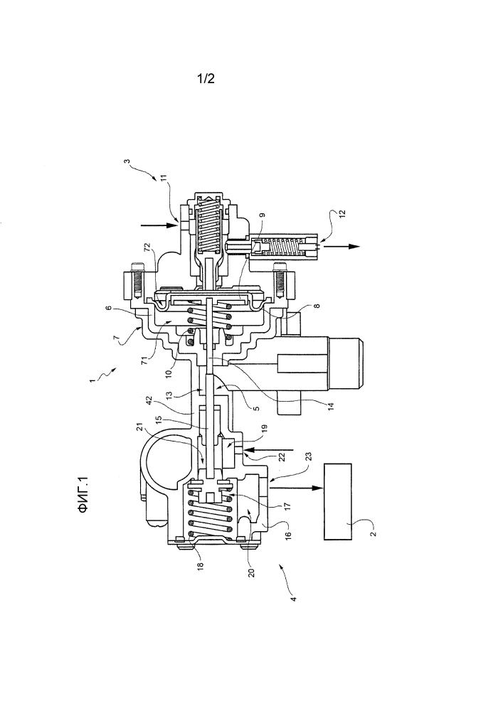 Пропорциональный клапан для регулирования газа в проточном водонагревателе и регулирующее устройство для данного клапана