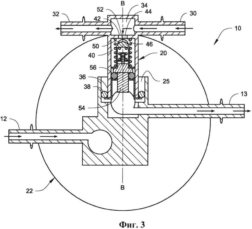 Термостатический рециркуляционный клапан для модуля фильтрации топлива
