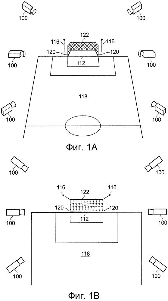Способ и устройство для определения положения спортивного снаряда на площадке