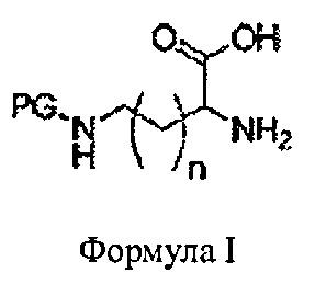 Получение n-защищенного бис-3,6-(4-аминоалкил)-2,5-дикетопиперазина