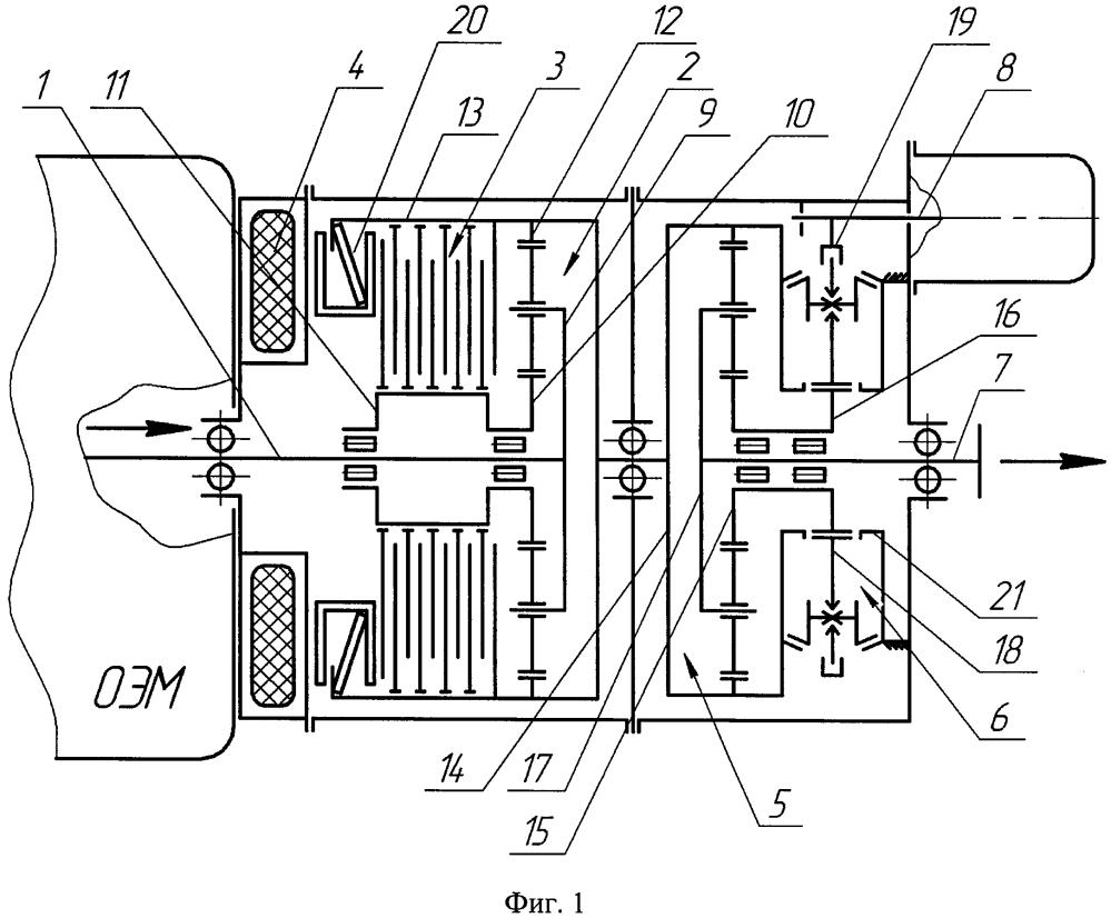 Соединительно-трансформирующее устройство комбинированной энергетической установки транспортного средства