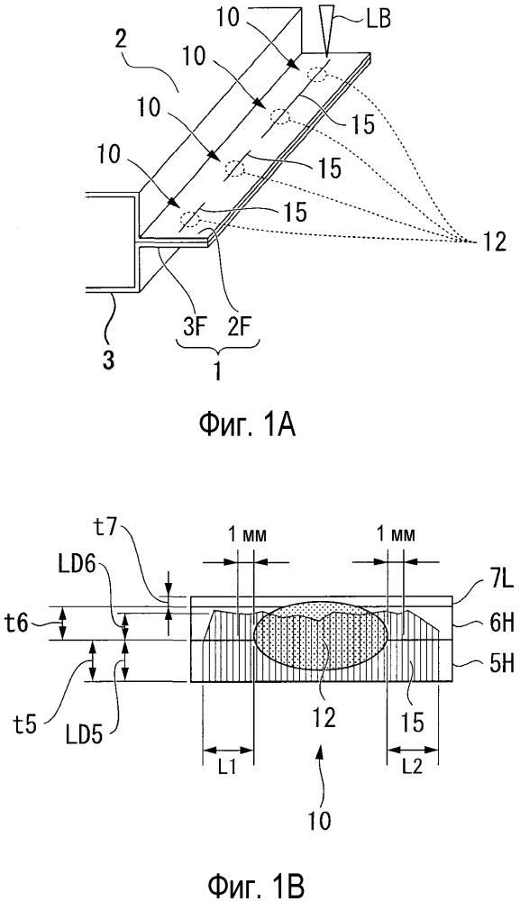 Способ сварки внахлестку участка, способ изготовления сваренного внахлестку элемента, сваренный внахлестку элемент и автомобильная деталь