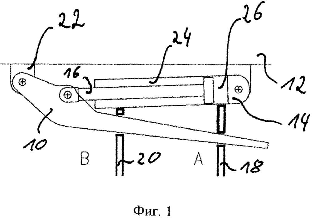 Способ и устройство для определения положения поворота консольного верхняка забойной крепи и устройство для поворота консольного верхняка забойной крепи
