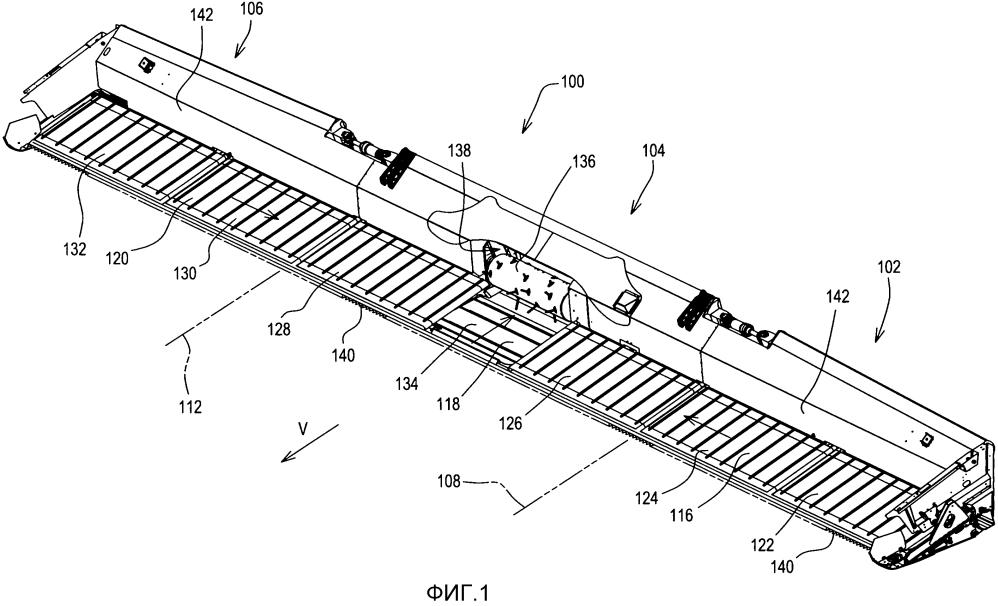 Полотенная платформа с центральным транспортером и способ замены ленты центрального транспортера